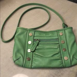 B. Makowsky green crossbody purse